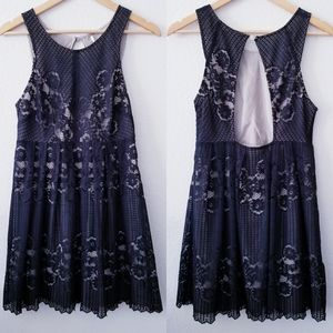 Free People Dresses - Free People   Black Rocco Lace Mini Dress Cut Out